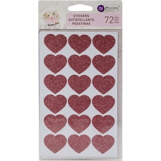 "Love Story Heart Stickers 4""X7"" 4/Pkg"