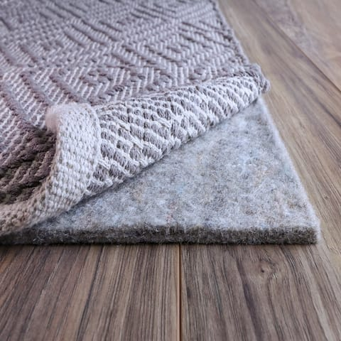 FiberSoft Extra Thick 100-percent Felt Rug Pad for All Floors - Grey