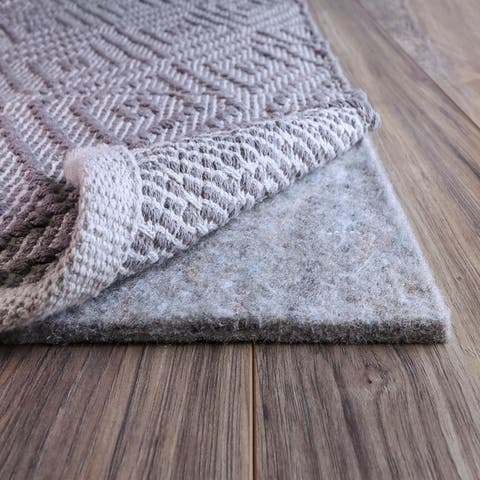 FiberSoft Extra Thick 100% Felt Rug Pad for All Floors - Grey
