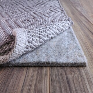 FiberSoft Extra Thick 100% Felt Rug Pad for All Floors - 4' round