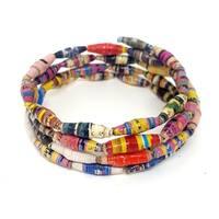 Handmade Paper Bead Katoga Lapeta Bracelet MultiColor (Uganda)