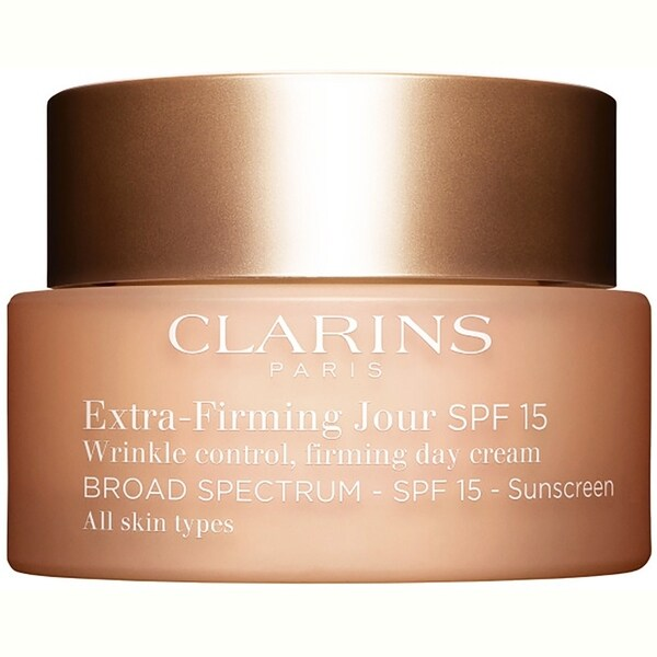 Clarins ExtraFirming Jour Day Cream SPF15 All Skin Types 1.7oz  50ml The Ginger People Go Ginger Face Cleanser, 5 Fl Oz
