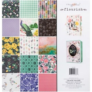"""Crate Paper Single-Sided Paper Pad 12""""X12"""" 48/Pkg"""
