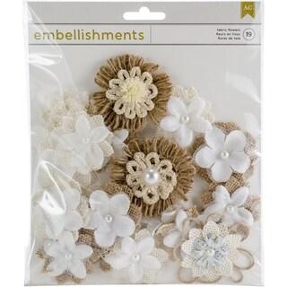 American Crafts Fabric & Paper Flowers 19/Pkg