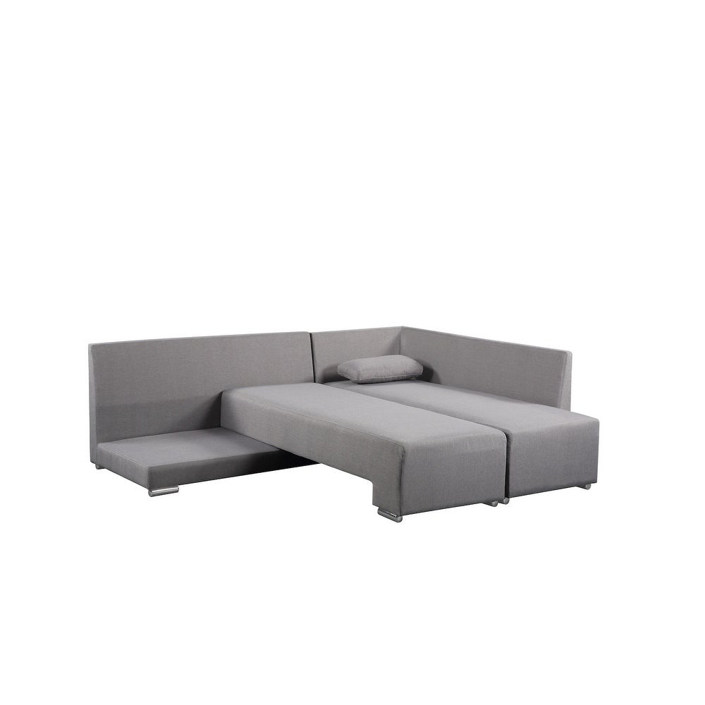 Fantastic Gray Sectional Convertible Sleeper Sofa Villars Camellatalisay Diy Chair Ideas Camellatalisaycom