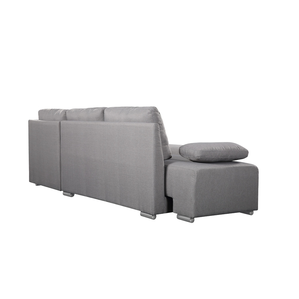 Admirable Gray Sectional Convertible Sleeper Sofa Villars Camellatalisay Diy Chair Ideas Camellatalisaycom