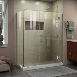 "DreamLine Unidoor-X 51 1/2 in. W x 34 3/8 in. D x 72 in. H Frameless Hinged Shower Enclosure - 34.38"" x 51.5"""