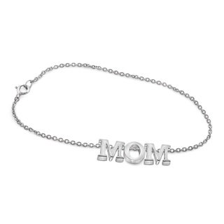 "JewelonFire Sterling Silver ""MOM"" Initial Bracelet"