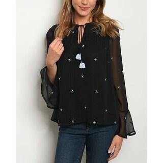 JED Women's Long Sleeve Chiffon Blouse