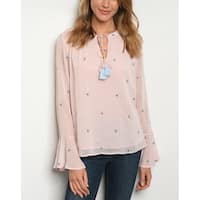 JED Women's Long Sleeve Chiffon Blouse