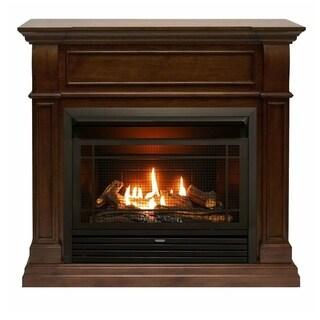 Duluth Forge Dual Fuel Ventless Gas Fireplace - 26,000 BTU, Remote Control, Walnut Finish