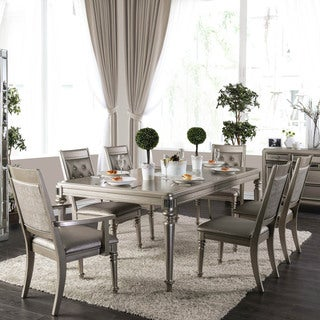 Melville Glam Champagne 7-piece Padded Dining Set by FOA