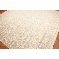 Floral Hand-Knotted Persian Full Pile Oriental Area Rug - 9' x 12'