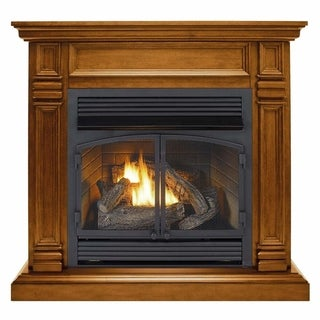 Duluth Forge Dual Fuel Ventless Fireplace - 32,000 BTU, Remote Control, Apple Spice Finish
