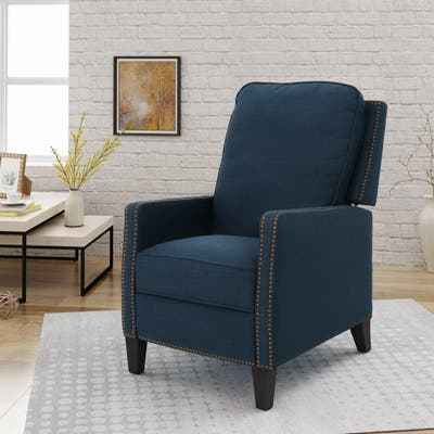 Cecelia Traditional Fabric Recliner by Christopher Knight Home