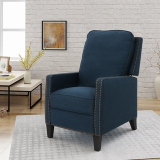 Shop Ethan Tufted Bonded Leather Recliner Chair By