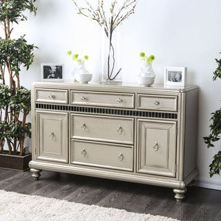 Link to Furniture of America Olin Transitional Champagne Buffet Server Similar Items in Living Room Furniture