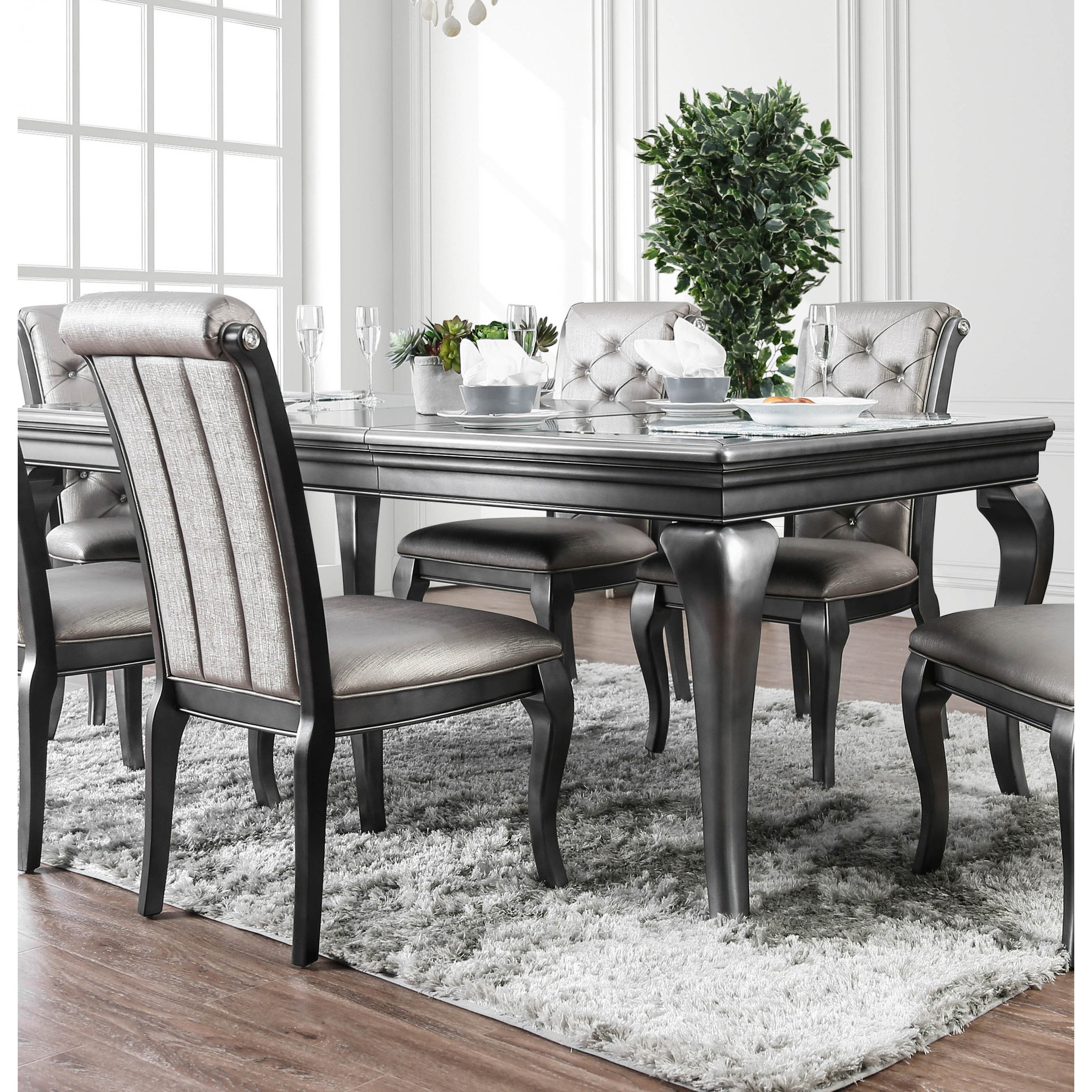 Grey Finish Glam Kitchen Dining Room Tables Online At
