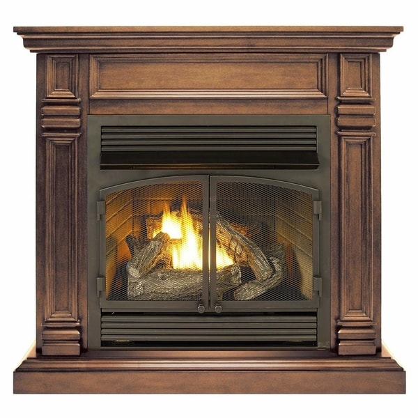 Duluth Forge Dual Fuel Ventless Fireplace - 32,000 BTU, T-Stat Control, Chocolate Finish