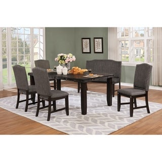 Best Quality Furniture Rustic Cappuccino Extension Dining Set