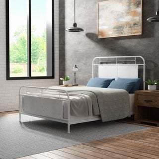 Furniture of America Beltran Industrial Style Vintage Metal Bed