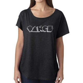 Los Angeles Pop Art Dolman Word Art Shirt - DIFFERENT STYLES OF DANCE