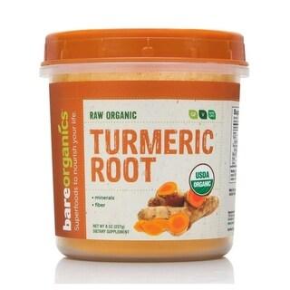BareOrganics Turmeric Curcuma 8-ounce Root Powder Raw Organic