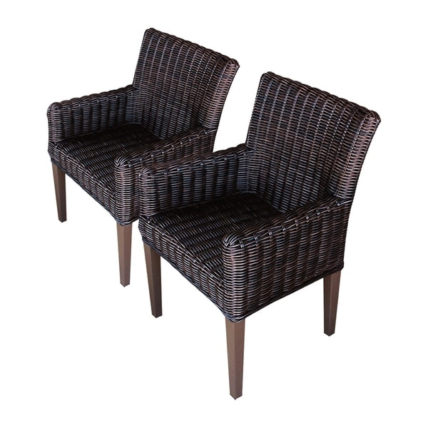 Amazing Shop Calypso Oh0663 Outdoor Patio Wicker Dining Chairs With Alphanode Cool Chair Designs And Ideas Alphanodeonline