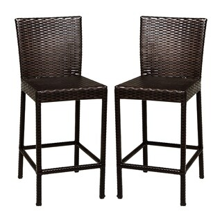 Provence OH0594 Outdoor Patio Wicker Bar Stools