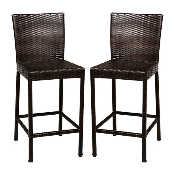 Shop Provence Oh0594 Outdoor Patio Wicker Bar Stools