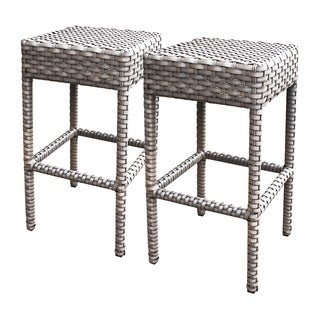 Sea Breeze OH0637 Outdoor Patio Backless Wicker Bar Stools