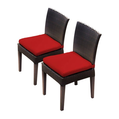 Provence OH0581 Outdoor Patio Wicker Side Chairs (Set of 2)