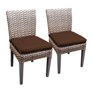 Sea Breeze OH0632 Outdoor Patio Wicker Side Chairs (Set of 2)