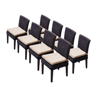 Calypso OH0661 Outdoor Patio Wicker Side Chairs (Set of 8)
