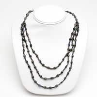 Handmade Paper Bead Natino Necklace Dark Green (Uganda)