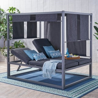 Heminger Outdoor Daybed with Canopy by Christopher Knight Home