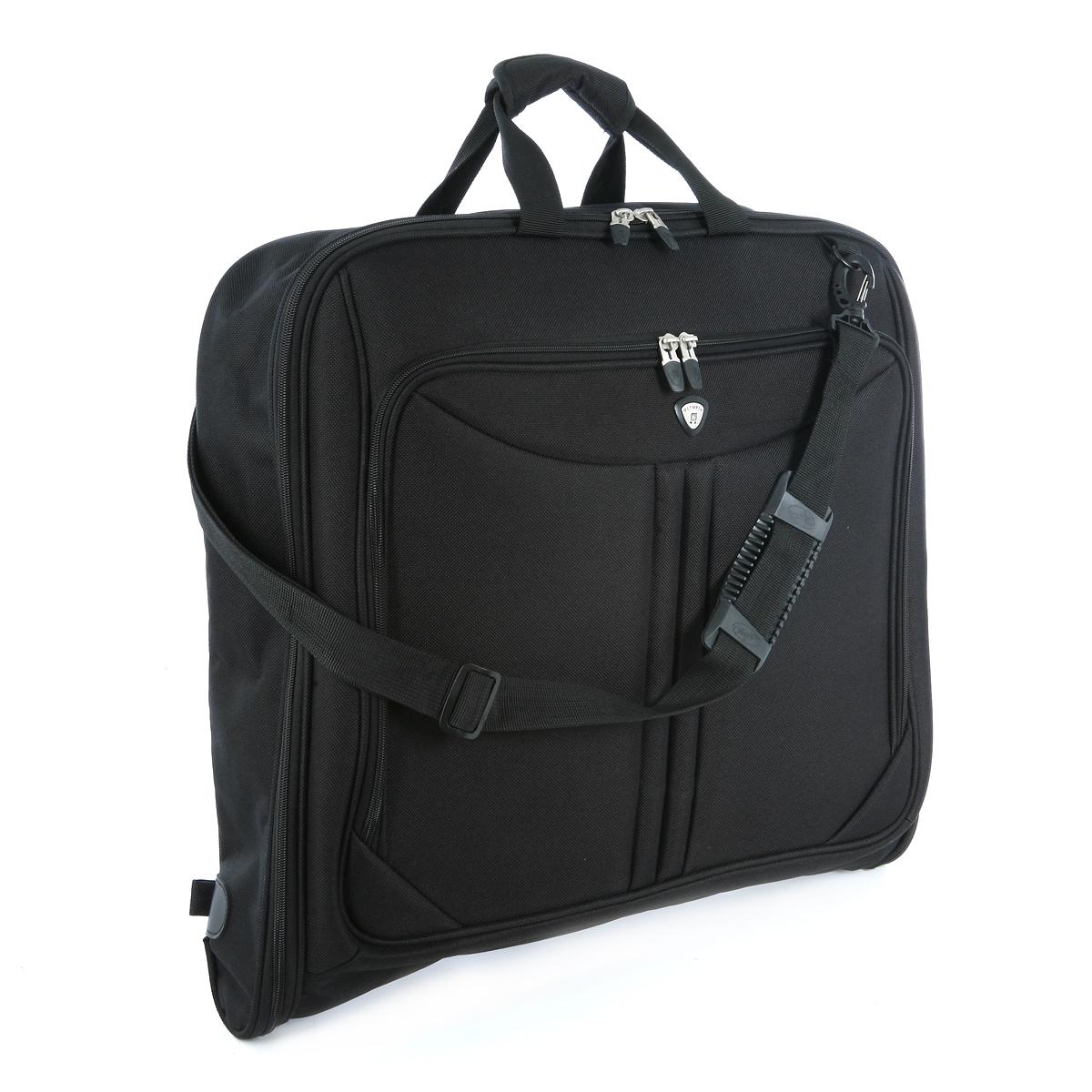 Olympia Vector Folding Garment Bag (Black)
