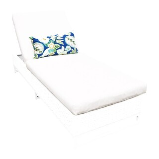 Coastal OH0469 Outdoor Patio Wicker Chaise Lounge