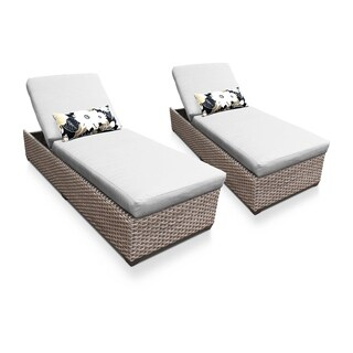 Sea Breeze OH0601 Outdoor Patio Wicker Chaise Lounge (Set of 2) (More options available)