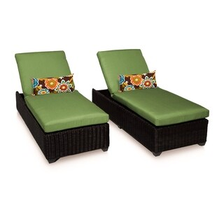 Calypso OH0715 Outdoor Patio Wicker Chaise Lounge (Set of 2) (More options available)