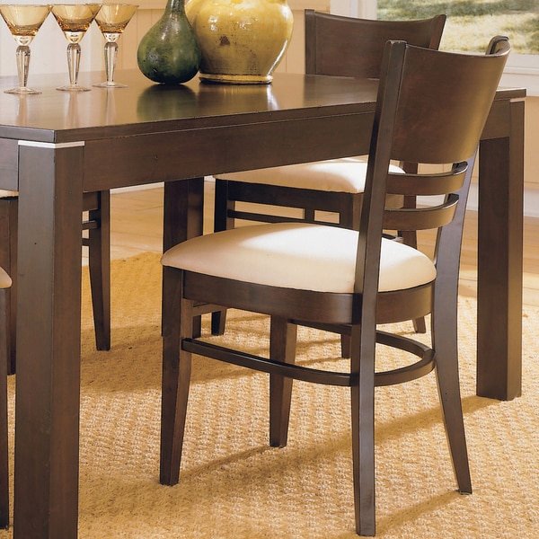 Venice Espresso Cushioned Dining Chair by TRIBECCA HOME (Set of 2)