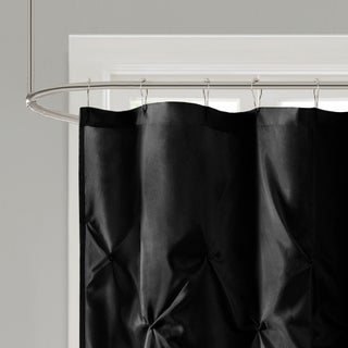 Clay Alder Home Niantic Polyester Shower Curtain (Option: Black - 72 x 72)