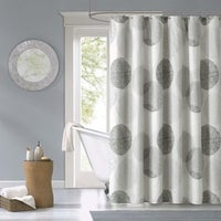 Clay Alder Home Niantic Dot Printed Shower Curtain