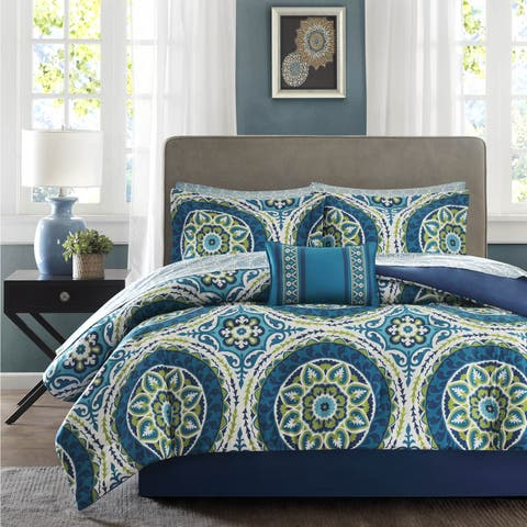 RoxanneBlue Complete Comforter And Cotton Sheet Set