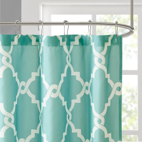 Madison Park Concord Shower Curtain Teal 72 X 72