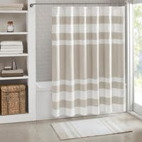 Madison Park Spa Waffle Shower Curtain with 3M Treatment