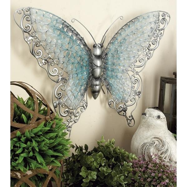 Copper Grove Iris Blue Metal Butterfly. Opens flyout.