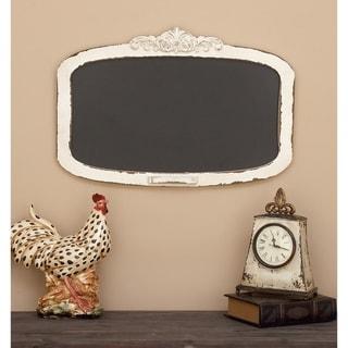 The Gray Barn Joyful Stream 28-inch Shabby Chic Distressed Antique Ivory Wood Wall Chalkboard
