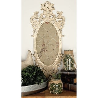 Gracewood Hollow Haley 28-inch Shabby Chic Distressed Antique Ivory Wood Wall Chalkboard