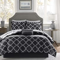 Clay Alder Home Denver Black Reversible Complete Comforter and Cotton Sheet Set